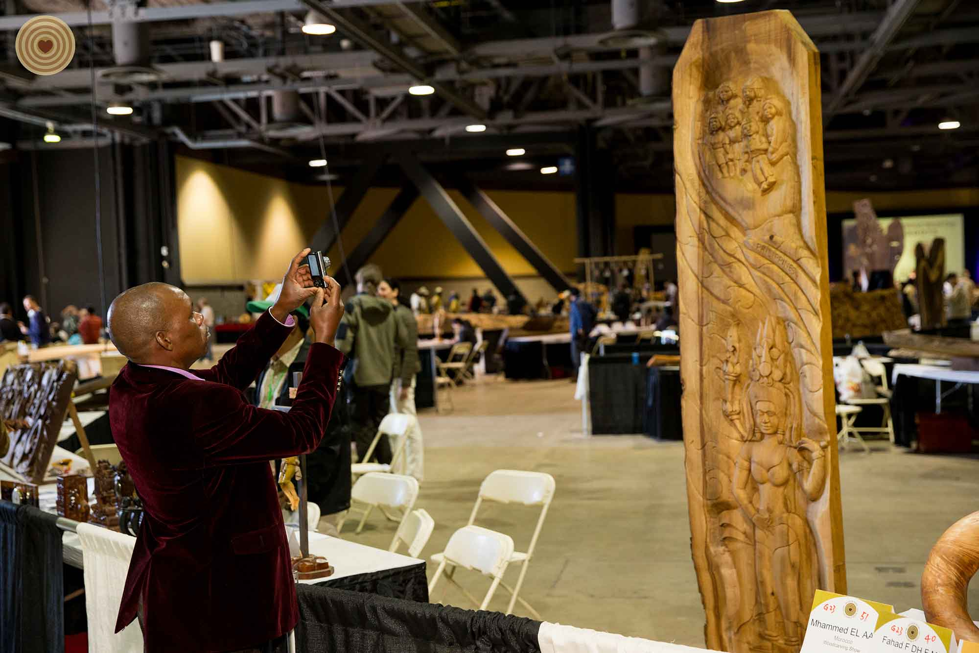 exhibition, wood carving