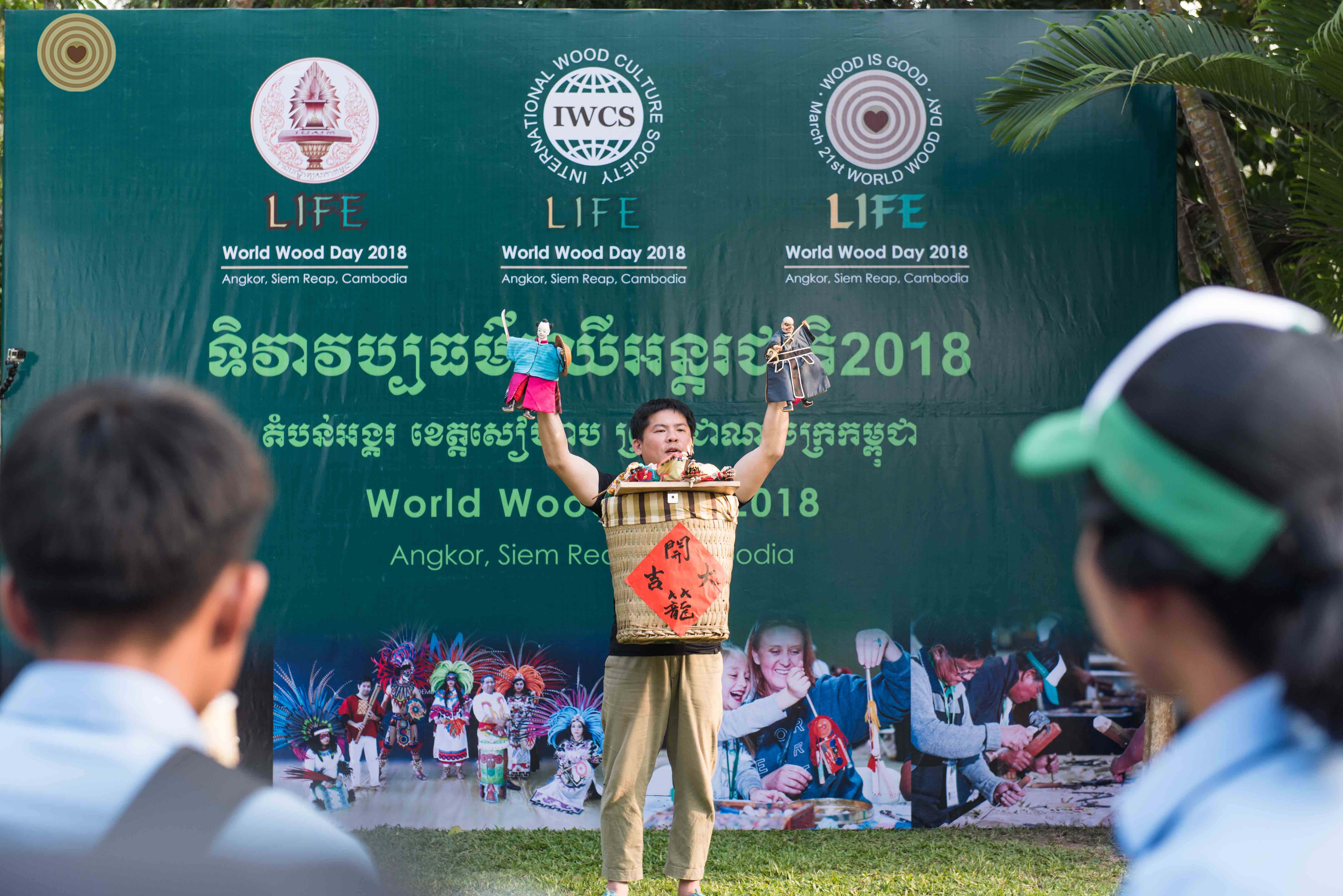 Wood, Folk Art Workshop, 2018 World Wood Day, Cambodia, Glove Puppetry, Lai Yongting, Master