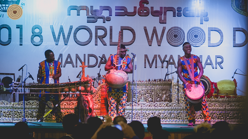 #Myamnar World Wood Day #Mandalay #Traditional Music and Dance